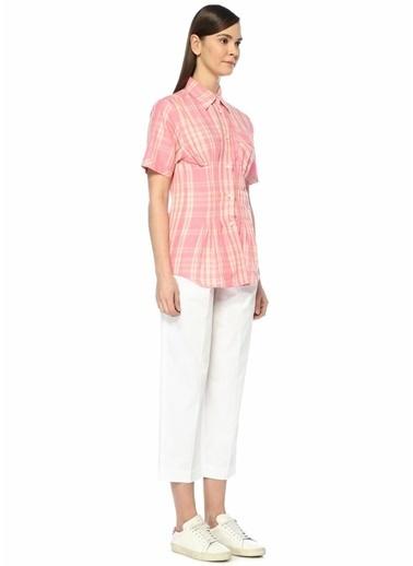 Etoile Isabel Marant Yüksek Bel Pileli Poplin Pantolon Beyaz